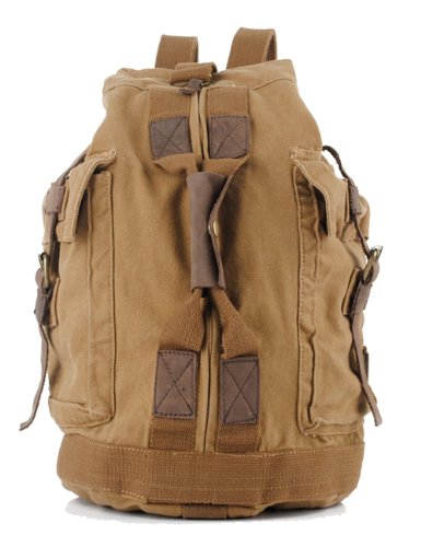SAIERLONG Men's And Women's backpacks shoulder handbags earthy yellow Canvas