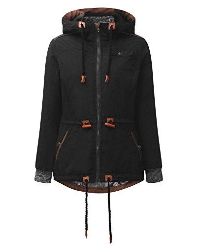 Auxo Winter Drawstring Jackets Pockets