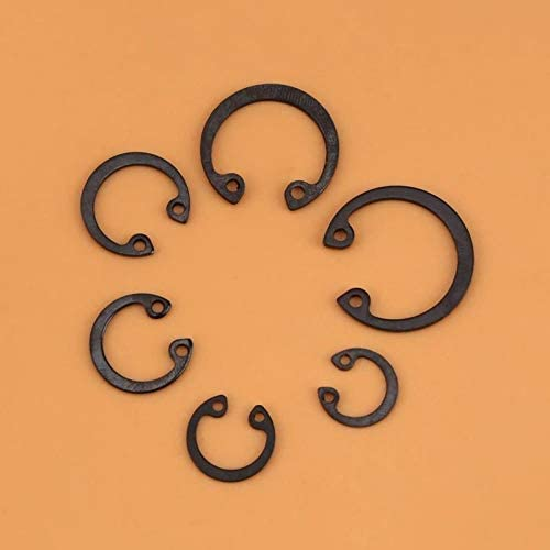 Ochoos 1 Set of 100Pcs Snap C-Clip Circlip Retaining Ring Circlips Assortment Kit with Box 11mm 21mm 6 Sizes Snap Ring