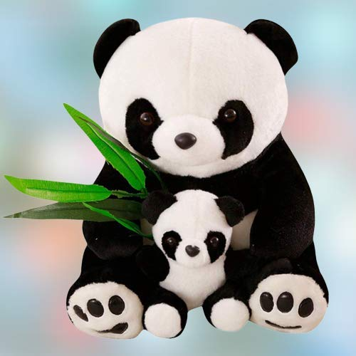 Buy Teddy Bazar Cute Beautiful Panda Teddy Bears With Baby White Black 60 Cm Online At Low Prices In India Amazon In