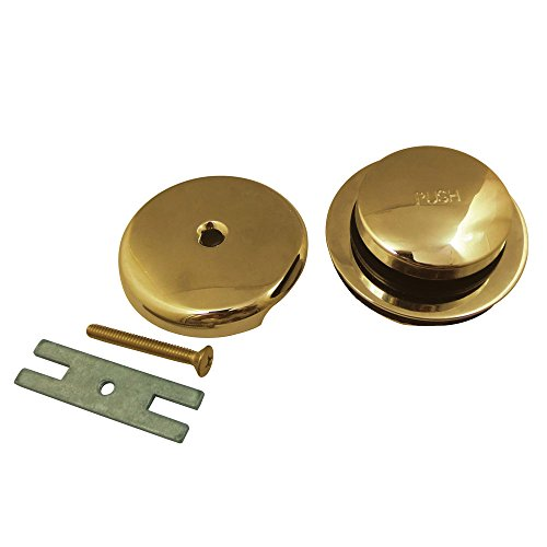 Kingston Brass DTT5302A2 Made to Match Toe Tap Drain Kit, Polished Brass