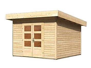 Gartenhaus Fußboden Schrauben ~ Karibu gartenhaus northeim 3 naturbelassen 40 mm inkl. fußboden