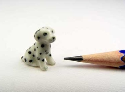 3 D Ceramic Toy Sitting Dalmatian SS Dollhouse Miniatures by ChangThai Design by ChangThai Design