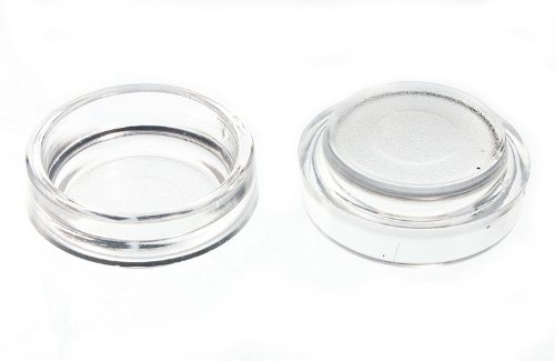 100 X Castor Cups Furniture Floor Protector Glides Clear Plastic 44Mm by DIRECT HARDWARE