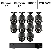 QTH163-10CN-2Q-See 16-Channel 10-Camera 1080p Security System with 2TB HDD DVR