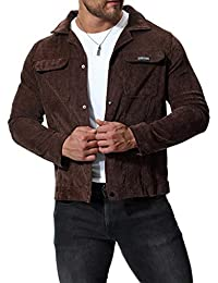 Men's Autumn Winter Stylish Corduroy Windproof Individual Personality Jacket Tops