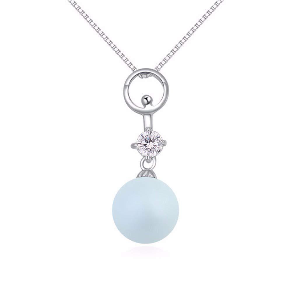 aimaoer925 Argent Sterling Micro Pendentif Zircon Pendentif Simple Collier De Perles Bijoux De Femmes