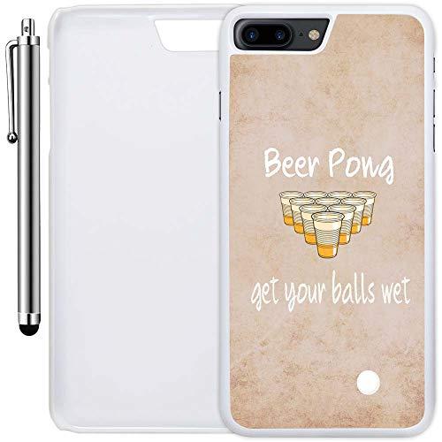 innosub Carcasa Personalizada Compatible con iPhone 8 Plus (5,5 Pulgadas) (Cita de la Pinza de Cerveza) de plástico Blanco...