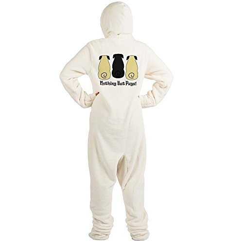 CafePress Nothing But Pugs Novelty Footed Pajamas, Funny Adult One-Piece PJ Sleepwear Creme for $<!--$39.95-->