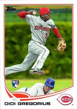 2013 Topps Baseball #296 Didi Gregorius Rookie Card - His 1st Official Rookie Card