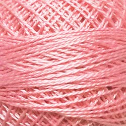Valdani Perle Cotton Size 8 Embroidery Thread, 72 Yard Ball - 46 Rich Pink