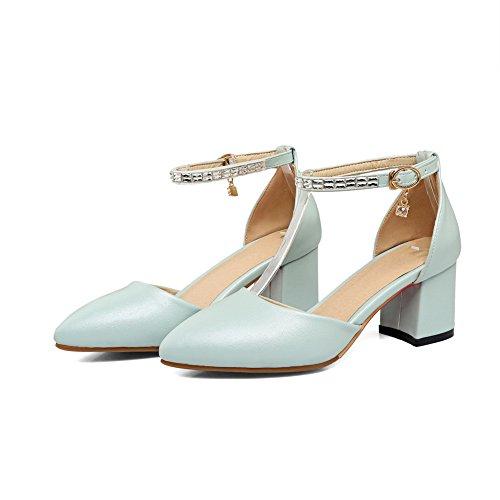 Femme AdeeSu 36 SLC04075 Compensées Sandales Bleu 5 Bleu UUrztqnRw