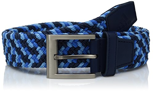 adidas Golf Braided Weave Stretch Belt, Dark Slate/Joy Blue/Blast Blue, Large/X-Large (Golf Taylormade Belt)