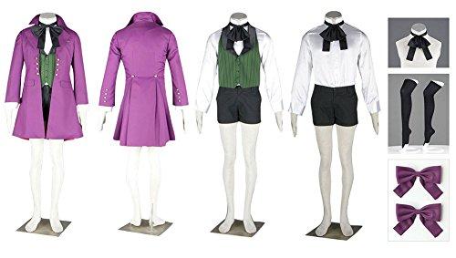[Decalon Black Butler Cosplay Costume Earl Alois Trancy Coat Vest Shirt Shorts Outfits] (Black Butler Alois Costume)