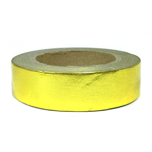 Wrapables Colorful Washi Masking Tape, Metallic (Gold Duct Tape)