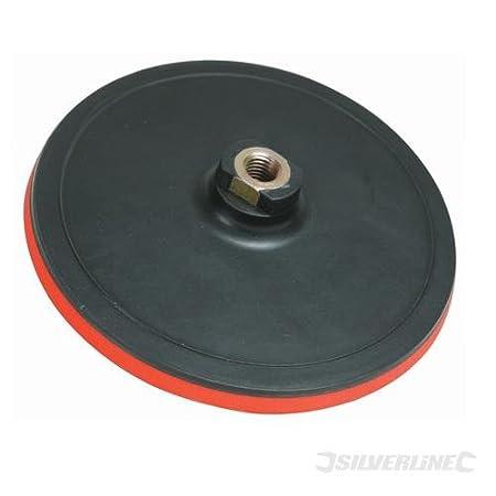 Silverline 108628 Platorello abrasivo con chiusura a velcro