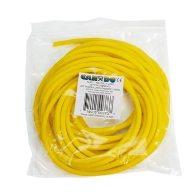 FEI 10-5511 Can-Do Low Powder Exercise Tubing, X-Light, 25' Length, Yellow