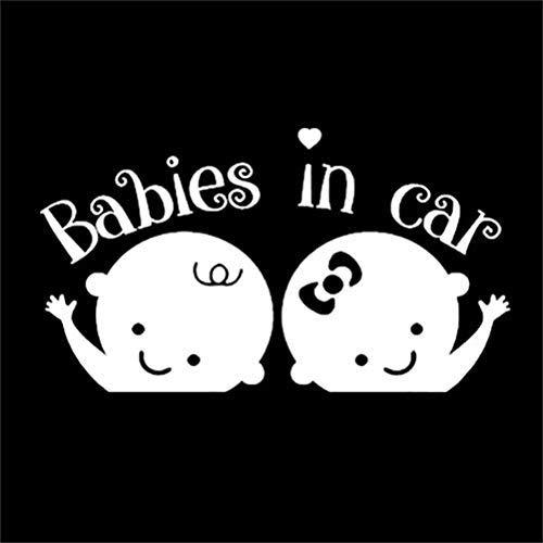 Babies in CAR Customized Rear Window Decal Sticker car Minivan SUV Twins Siblings /… Like Baby On Board