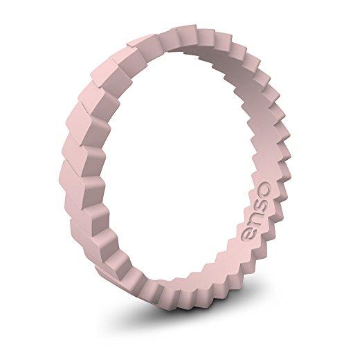 Enso Slanted Brick Silicone Ring