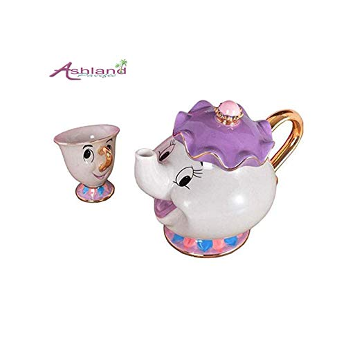 Ashland| Beauty and The Beast Mrs Potts Chip Tea Pot Cup One Set (Pot and -