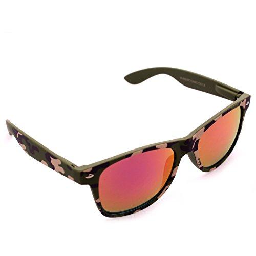 Green Digital Camo Soft Rubber Frame Wayfarer Sunglasses Purple Iridium - Camo Sunglasses Digital