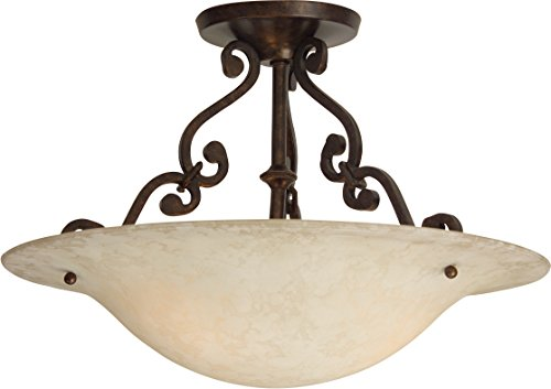 - Craftmade X1813-AG Toscana 2 Light Semi Flush Incandescent, Aged Bronze