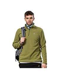 Phibee Men's Fleece Jacket Outdoor 1/4 Zip Hiking Coat