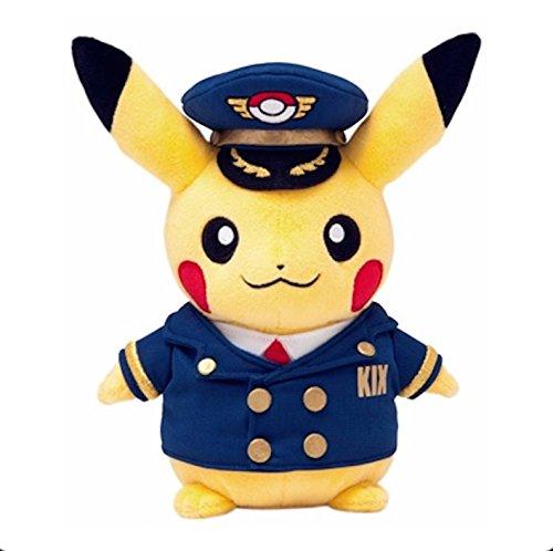 Pokemon Center Kansai Airport limited stuffed pilot Pikachu plush doll - Airport Mascot