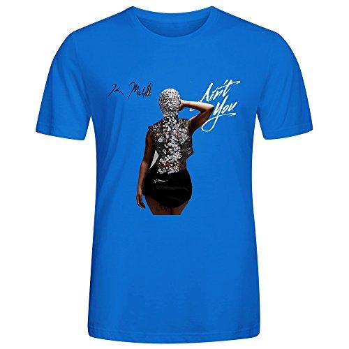 K Michelle Ain't You Mens T-Shirt Blue