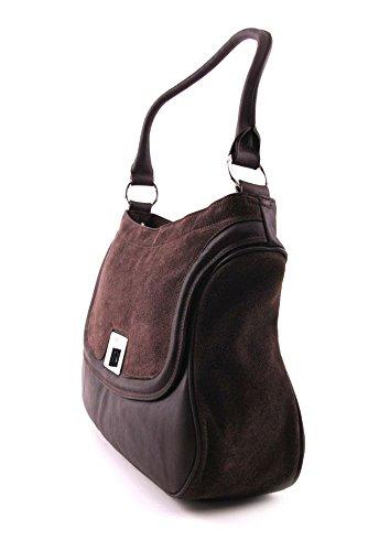 BREE Lyon 3 Handtasche in dunkelbraun