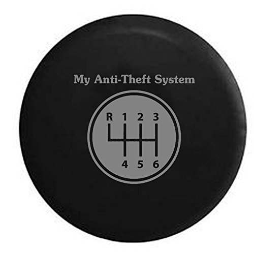 Stealth - My Anti-theft System Manual Stick Clutch Transmission Spare Tire Cover Black 33 in