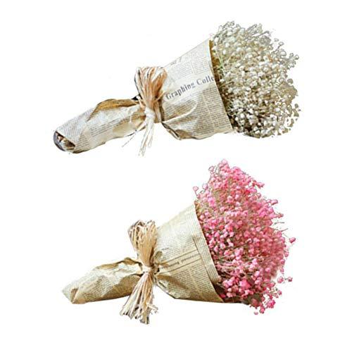 Fleurs sèches naturelles, décoration de bouquet de gypsophile pour le restaurant d'hôtel de bureau à domicile de mariage…