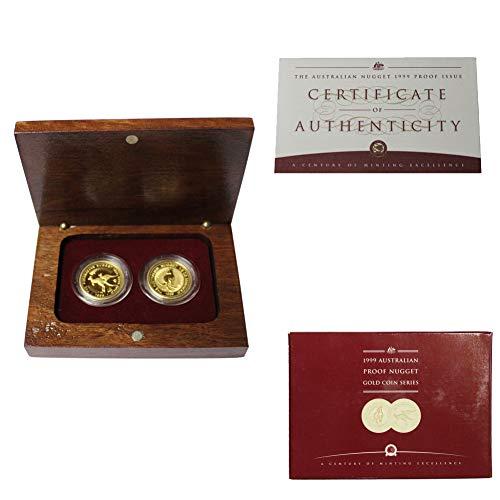 - 1999 Australian Proof 1/2oz Nugget Gold 2-Coin Set w/OGP & COA