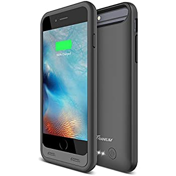 (Upgraded) iPhone 6 Battery Case, Trianium Atomic S iPhone 6s Portable Charger Charging Case for Apple iPhone 6 6s 4.7-Inch ONLY [Black]- 3100mAh Battery Pack Juice Bank Cover [MFI Certified]