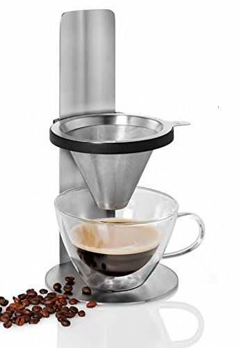 AdHoc Mr. Brew 10.4 Inch Pour Over Coffee Maker, Stainless Steel
