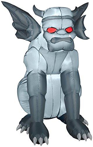 Woman Gargoyle Costume (Grey Gargoyle Airblown Inflatable Halloween Yard Decor 4.5' Tall)