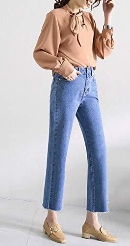 Svasati Da Larga a Anteriori Gamba Keephen Jeans Donna Svasati 5z6fq6Un
