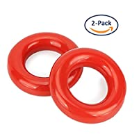 Tearcam Golf Swing Ring, 2 PCS Golf Club Warm Up Swing Donut Weighted Ring Diver for Practice & Training