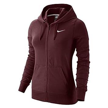 Nike W NSW FZ Jrsy Sudadera, Mujer, Rojo Dark Team Red/White, XL: Amazon.es: Deportes y aire libre