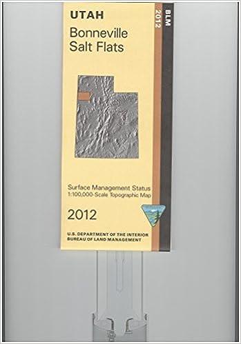 Map Bonneville Salt Flats Surface Management Blm Amazon Com Books