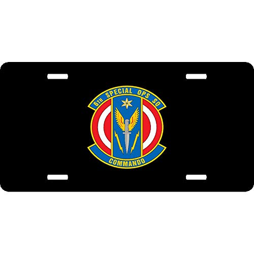 Air Force 6Th Special Operation Squadron Customized Auto Car Tag Sign Air Force Aluminum Metal License Plate Cover 12 x 6 Inch 4 Holes