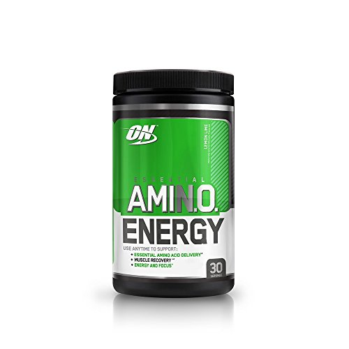 Optimum Nutrition Amino Energy, Lemon Lime, Preworkout and Essential Amino Acids with Green Tea and Green Coffee Extract, 30 Servings