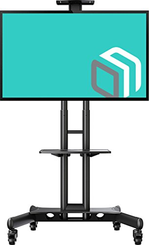 Cheap ONKRON Mobile TV Stand TV Cart with Mount fits 32 to 65-inch Flat Screens upto 100 lbs Black TS15-51