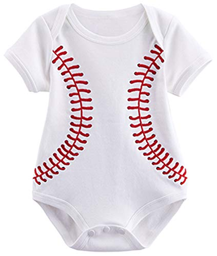 Baseball Costume For Boys (COSLAND Baby Boys' Baseball Costume Bodysuit (Baseball, 0-3)