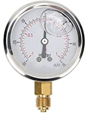 1/4BSP TS‑PGGZ60Z4‑1bar Pressure Measurement Tool Y60 Oil Filled Axial Vacuum Pressure Gauge for Home for Mining Industry for Water Oil Air