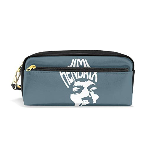 Jimi Hendrix American Rock Guitarist Face Logo Students Super Large Capacity Pencil Case Pen Bag Pouch Stationary Case Makeup Cosmetic Bag