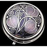Pill Box in a Celtic Swirls Design. (Purple) by Sea Gems presented by Celtic Glass Designs
