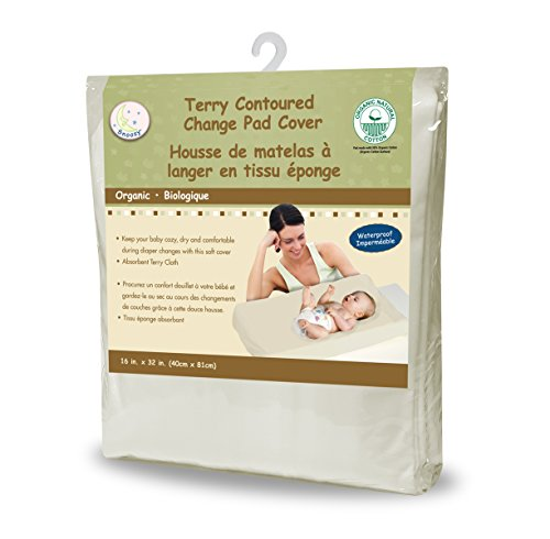 Snoozy Waterproof Terry Contoured Change Pad Cover, 16