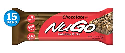 NuGo Protein Bar, Chocolate, 1.76-Ounce Bars (Pack of 15)