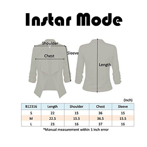 Instar Mode Women's Versatile Business Attire Blazers in Varies Styles (B12316 Green, Medium) by Instar Mode (Image #3)